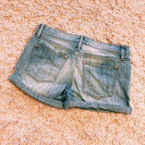 GAP Shorts - GAP Light Wash Rolled Denim Shorts